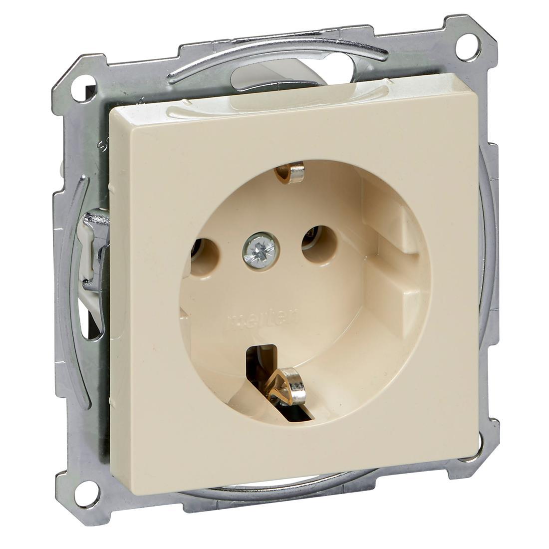 Schneider-Merten systeem M SCHUKO wandcontactdoos met steekklemmen - wit glanzend (MTN2301-0344)