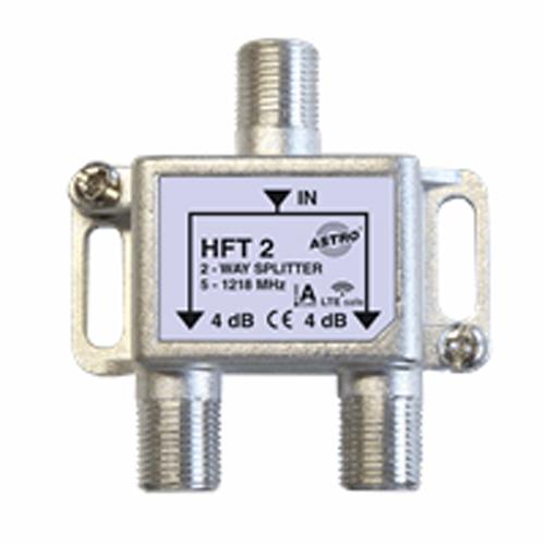 Astro verdeler 2-voudig, retourgeschikt, met f-aansluiting, tot 1.218 MHz (HFT2)