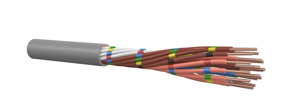 Signaalkabel 2x0,8 mm - rol van 100 meter