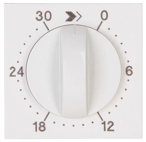 Kopp HK07 centraalplaat mechanische tijdschakelaar 30 min - wit