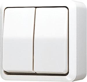 JUNG AP600 serieschakelaar opbouw - alpin wit