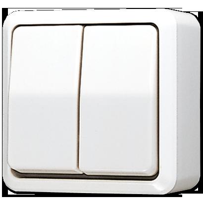 JUNG AP600 opbouw serieschakelaar 10A 250V - crème wit (605 A)