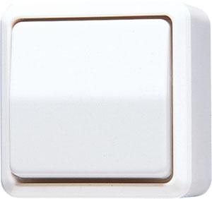 JUNG wipschakelaar 10A 250V - opbouw zuiver wit (606AWW)