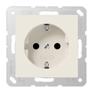JUNG stopcontact met randaarde 1 voudig - as500 crème wit (A520N)