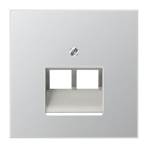 JUNG centraalplaat voor 2 x UAE/IAE - LS range aluminium (AL2969-2UA)
