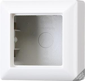 JUNG opbouwbak met afdekraam 1 voudig - as500 crème wit (AS581AW)
