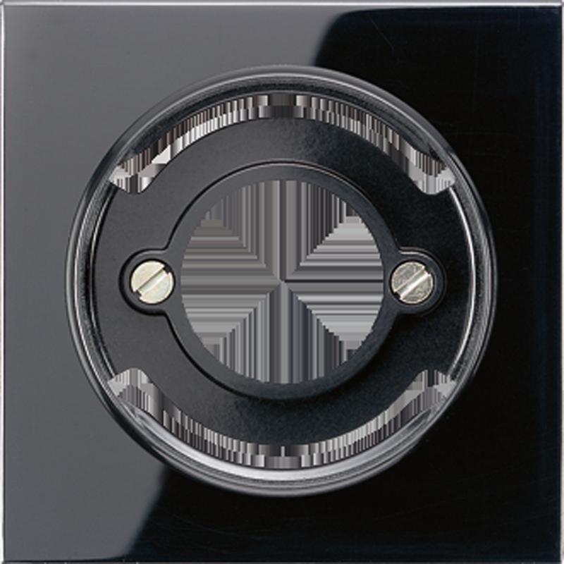 JUNG LS990 centraalplaat voor lichtsignaalarmatuur zwart