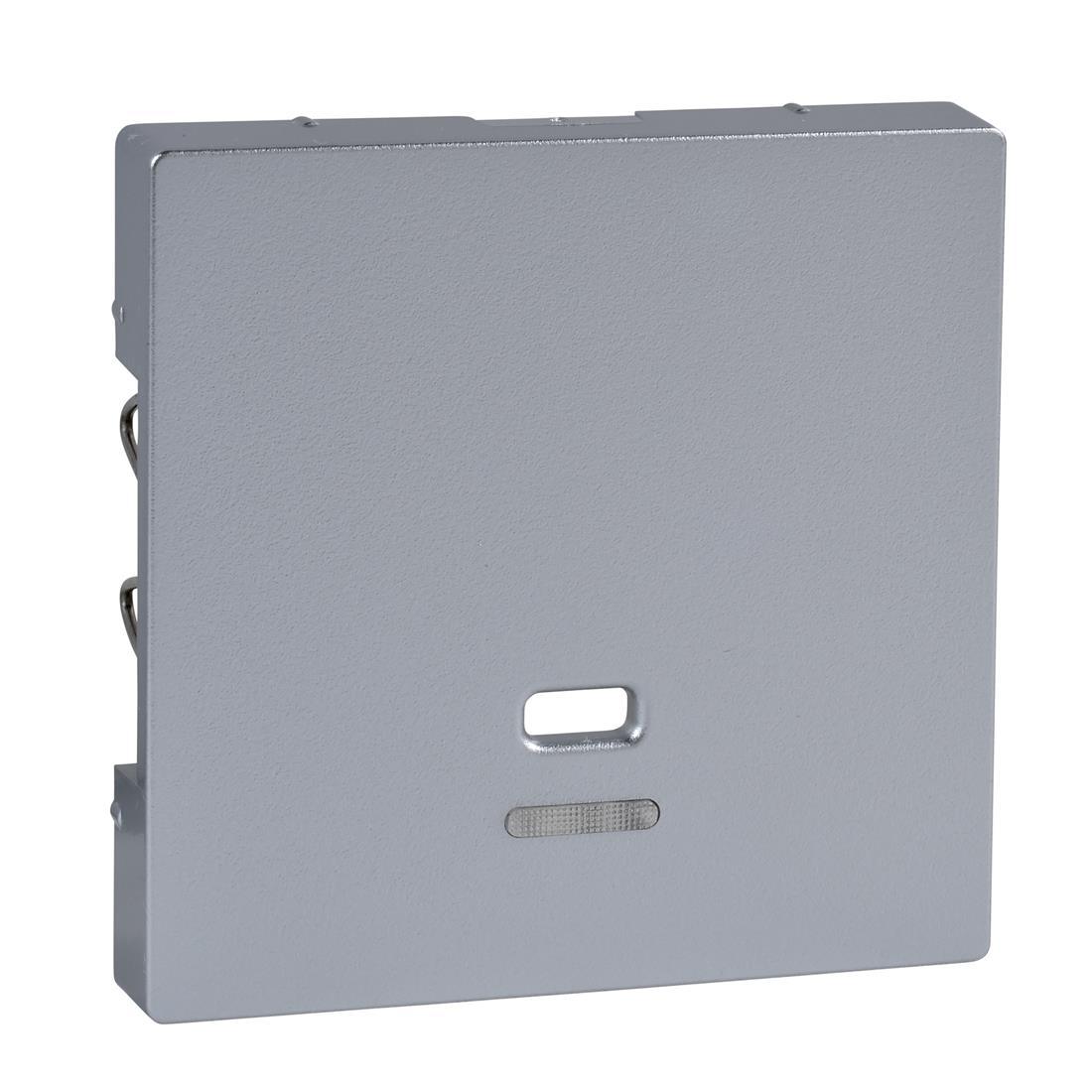 Schneider-Merten systeem M centraalplaat met controlevenster voor trekschakelaar - aluminium (MTN3380-0460)