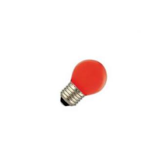 Led lamp 1W E27 rood