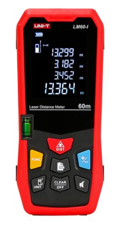 UNI-T laserafstandsmeter tot 60 meter, nauwkeurigheid 2mm (LM60-I)
