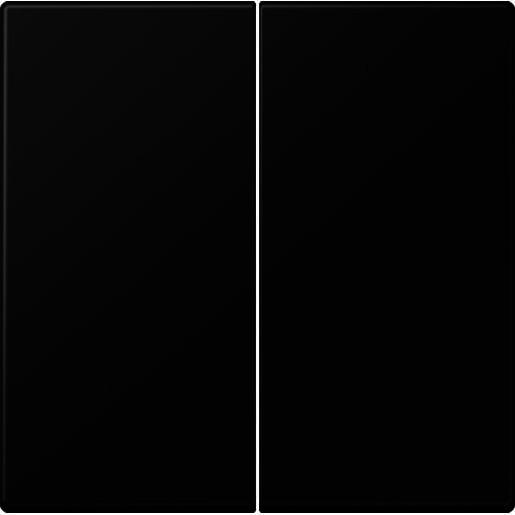 JUNG LS990 stuurafdekking standaard 2-voudig - grafietzwart (LS 1702 SWM)