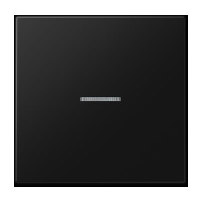 JUNG schakelwip LS990 met lens controle schakelaar - grafietzwart mat (LS990KO5SWM)