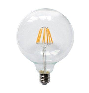 Led filament lamp E27 8W G125 2200K