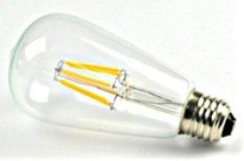 Led filament lamp E27 8W ST64 2200K