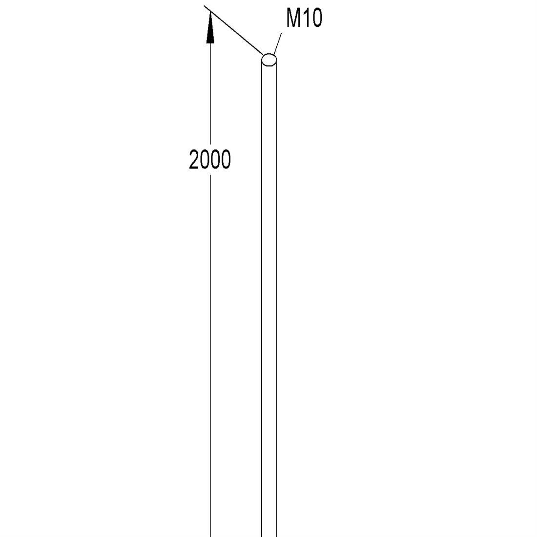 Niedax Kleinhuis draadstang M10/2000 met moeren per 25 stuks