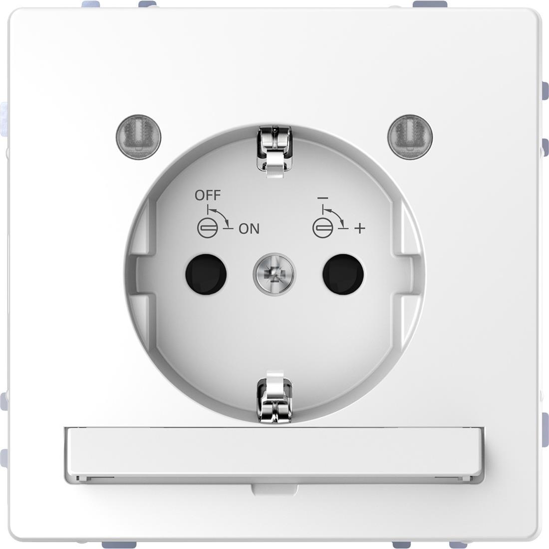 Schneider-Merten D Life wandcontactdoos met LED en kinderbeveiliging - lotuswit (MTN2304-6035)