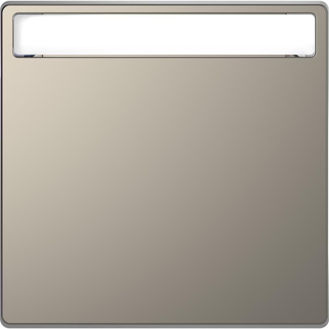 Schneider-Merten D Life wisselwip met controlevenster - nikkel metallic (MTN3360-6050)