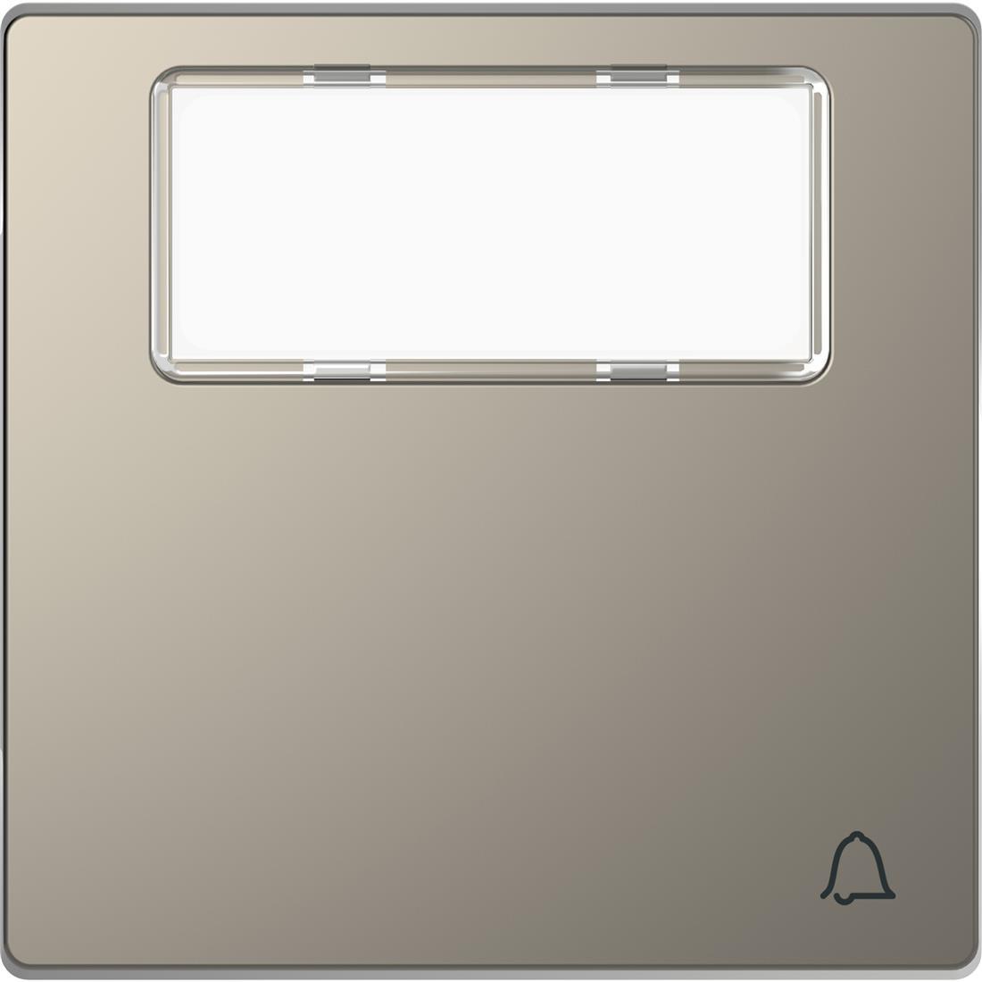 Schneider-Merten D Life wisselwip met informatieveld - nikkel metallic (MTN3365-6050)