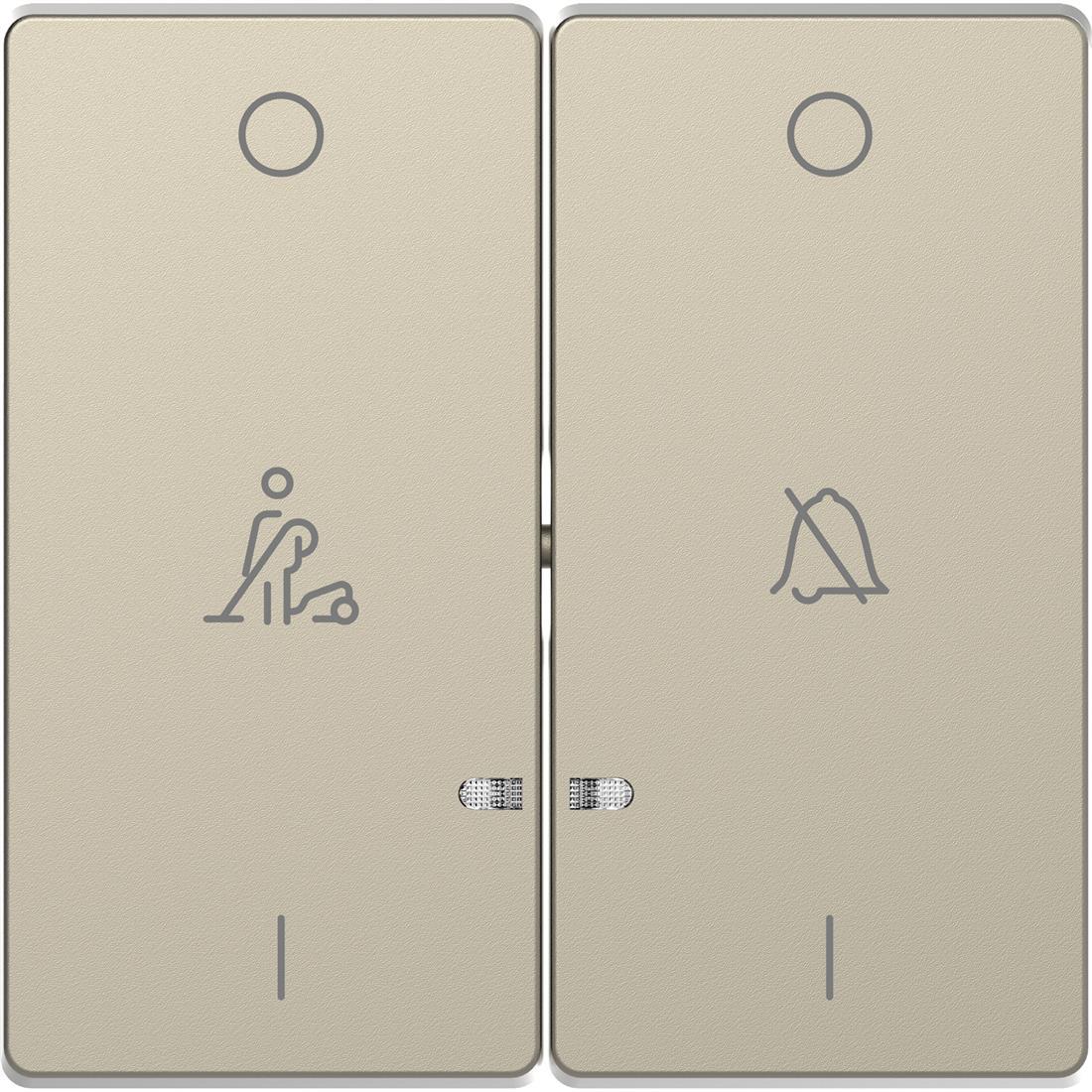 Schneider-Merten D Life seriewip met opdruk - sahara (MTN3429-6033)