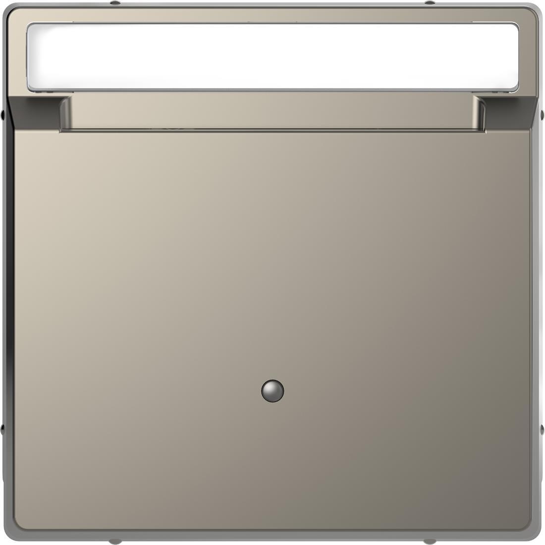 Schneider-Merten D Life kaartschakelaar met tekstvenster - nikkel metallic (MTN3854-6050)