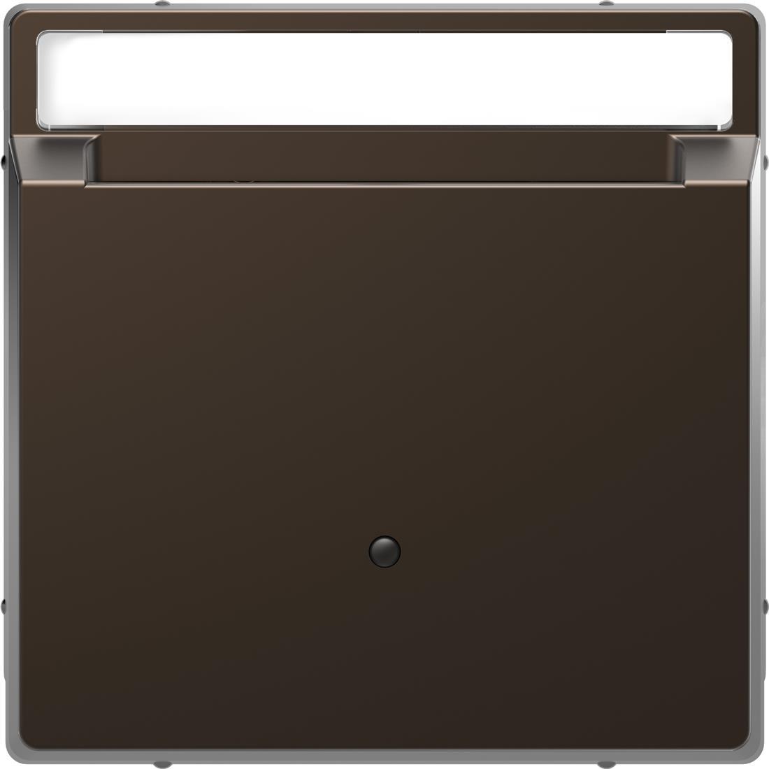 Schneider-Merten D Life kaartschakelaar met tekstvenster - mocca metallic (MTN3854-6052)