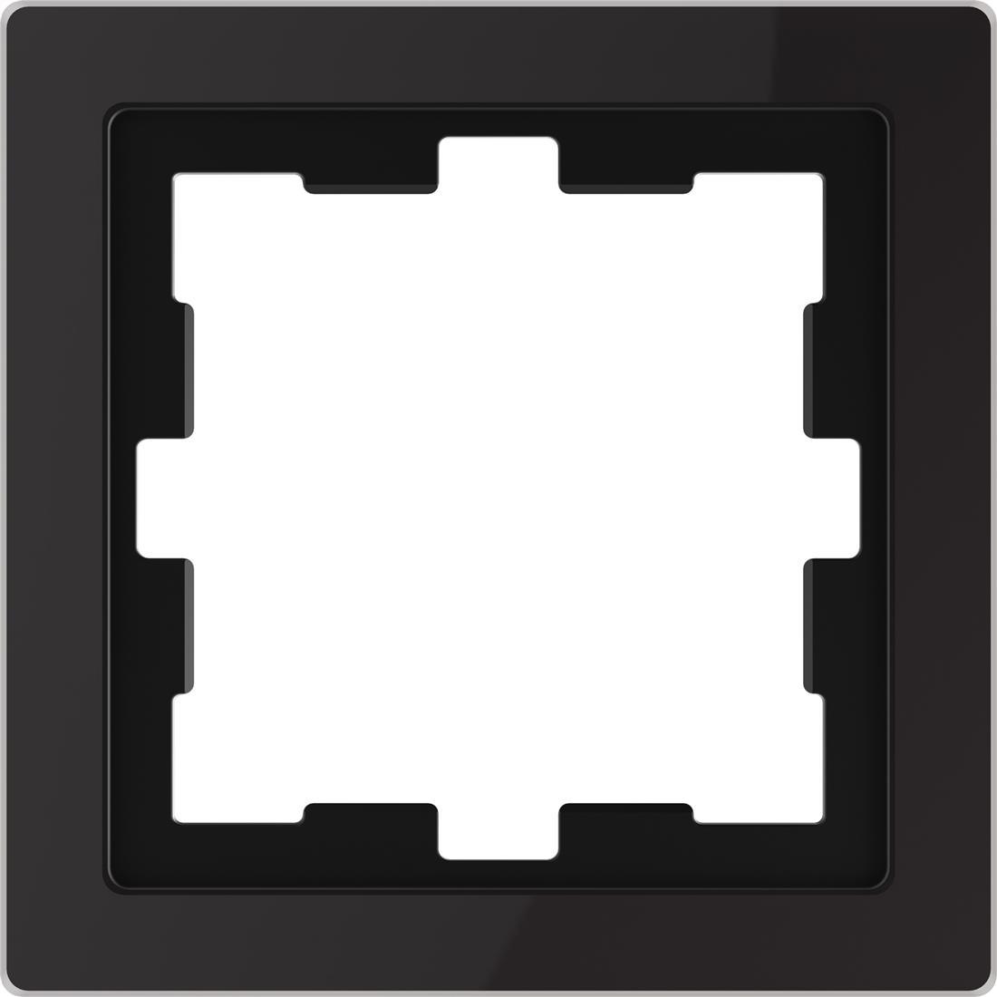 Schneider-Merten D Life afdekraam 1-voudig - glas zwart (MTN4010-6503)