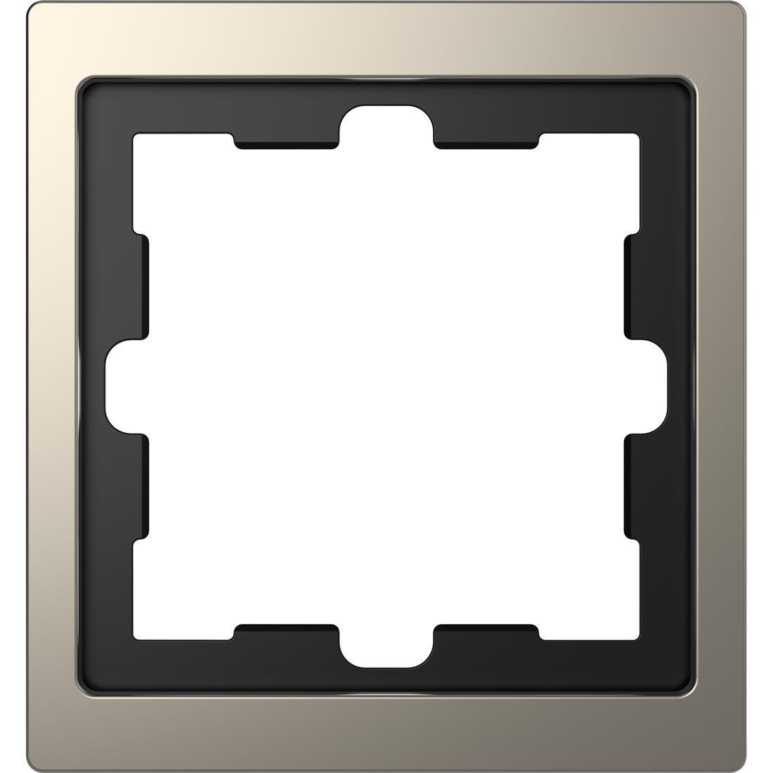 Schneider-Merten D Life afdekraam 1-voudig - nikkel metallic (MTN4010-6550)