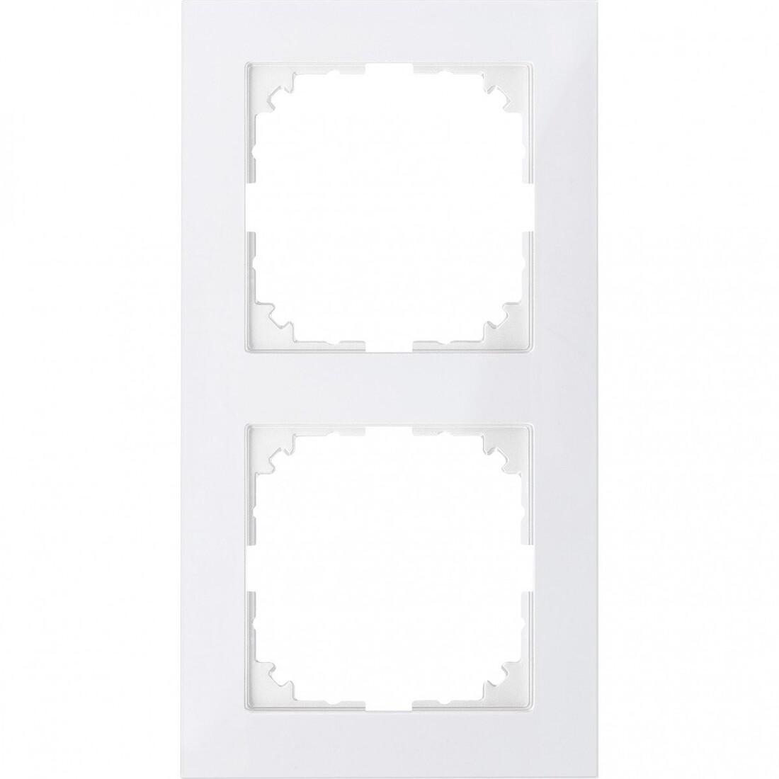 Schneider Electric Merten M-Pure 2-voudig afdekraam - polarwit glanzend (MEG4020-3619)