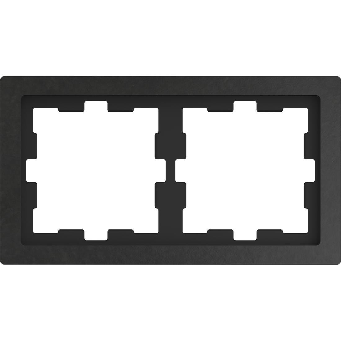 Schneider-Merten D Life afdekraam 2-voudig - steen antraciet (MTN4020-6547)