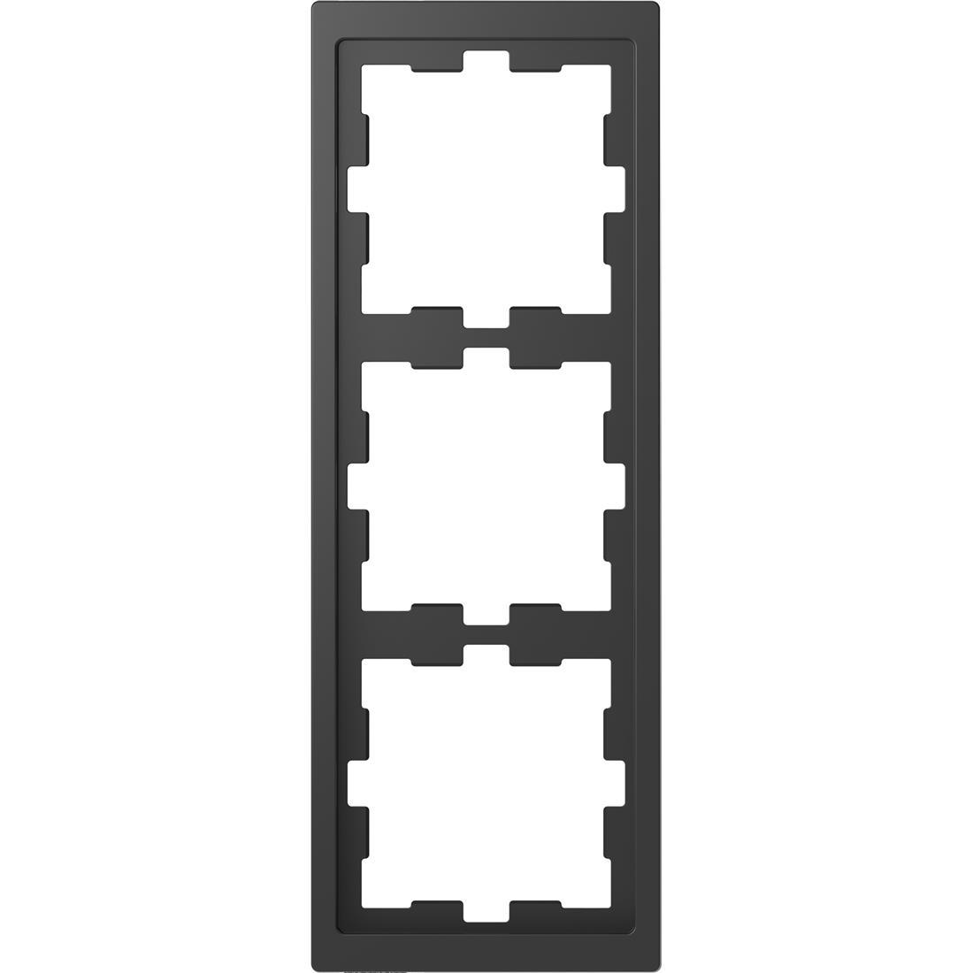Schneider-Merten D Life afdekraam 3-voudig - antraciet (MTN4030-6534)