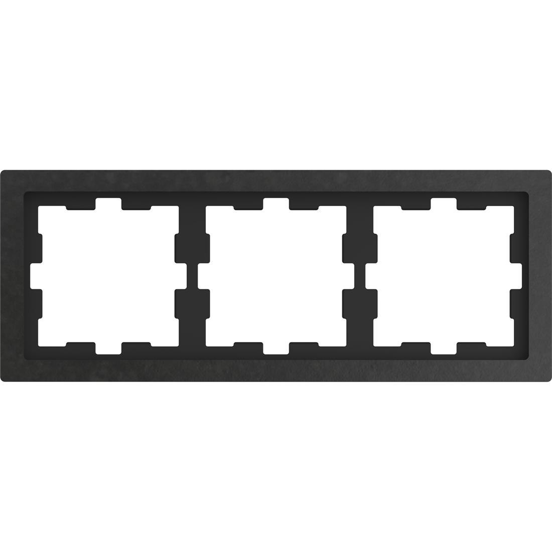 Schneider-Merten D Life afdekraam 3-voudig - steen antraciet (MTN4030-6547)