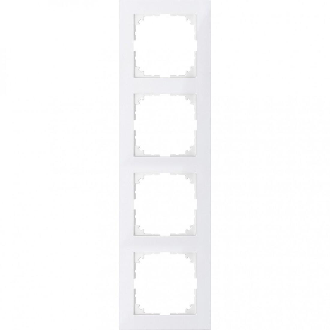 Schneider Electric Merten M-Pure 4-voudig afdekraam - polarwit glanzend (MEG4040-3619)