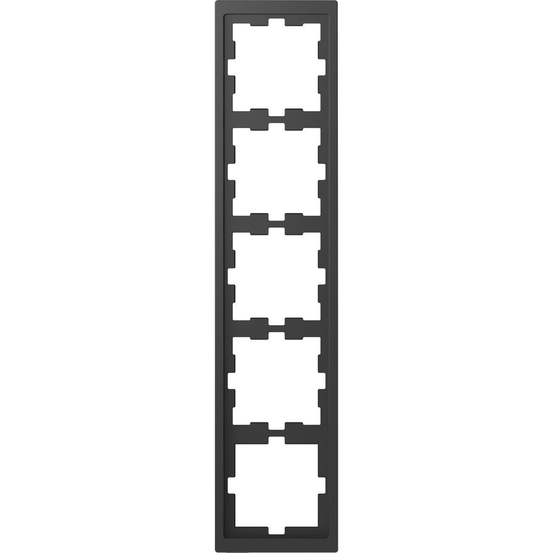 Schneider-Merten D Life afdekraam 5-voudig - antraciet (MTN4050-6534)