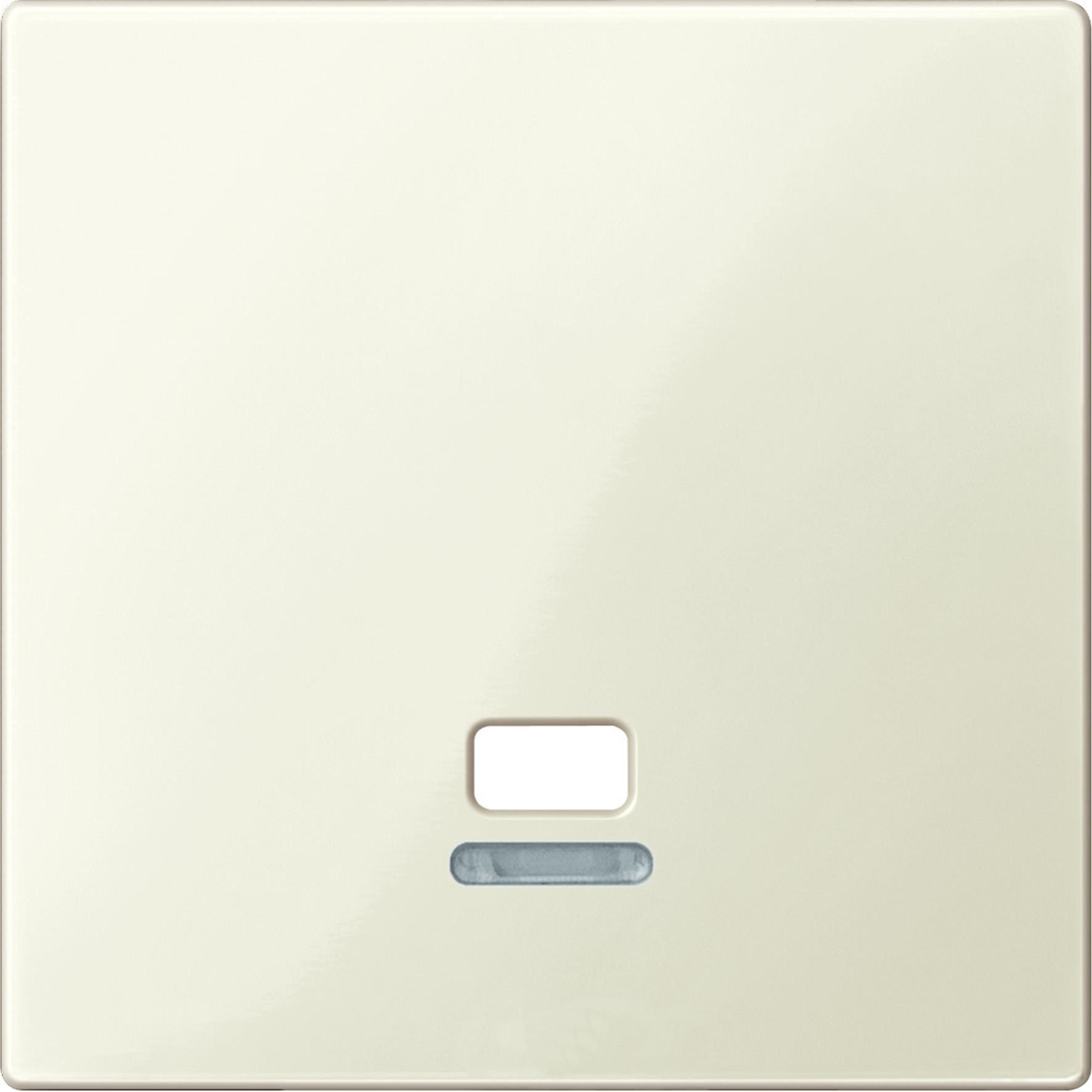 Schneider-Merten systeem M centraalplaat met controlevenster voor trekschakelaar - wit glanzend (MTN3380-0344)