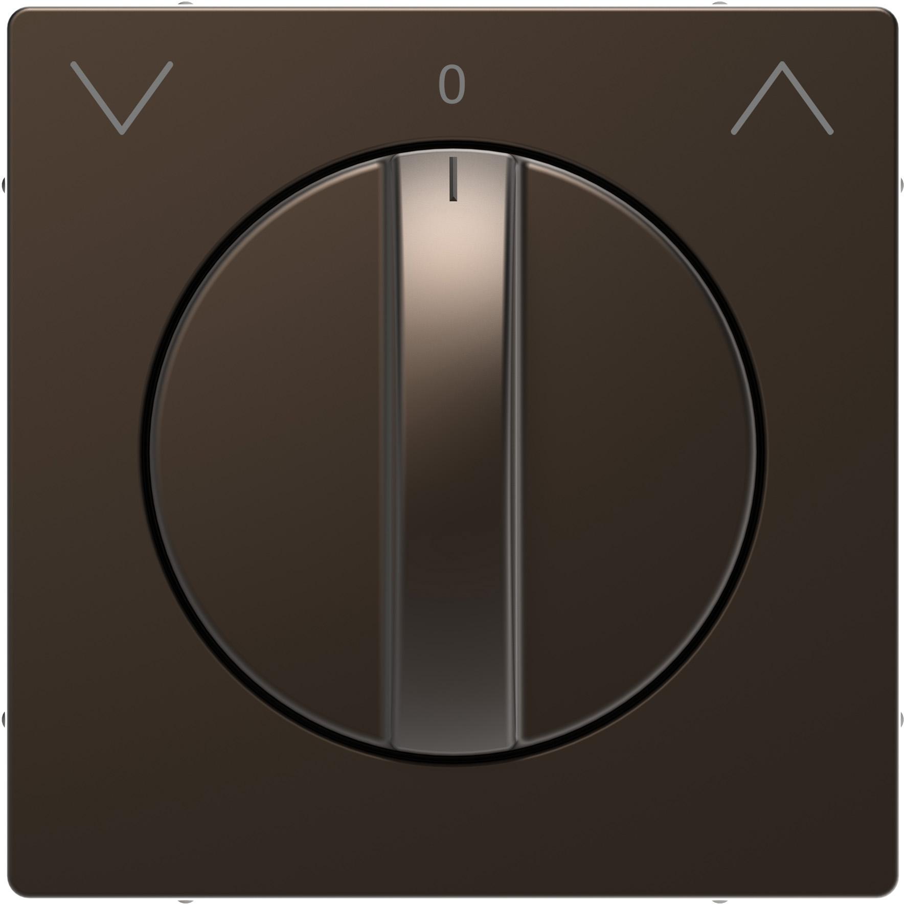 Schneider-Merten D Life centraalplaat voor draai-jaloezieschakelaar - mocca metallic (MTN3875-6052)