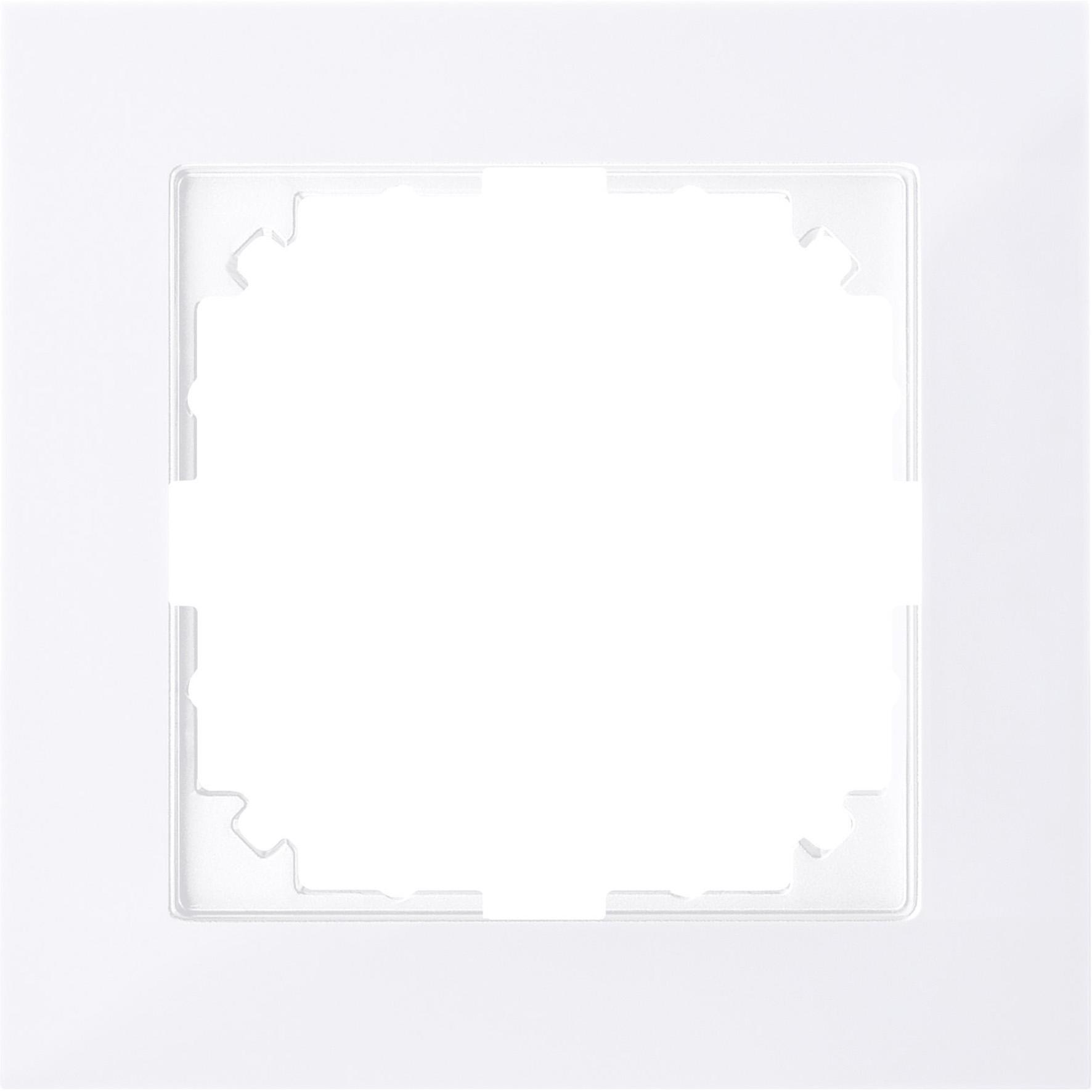 Schneider-Merten M-Pure 1-voudig afdekraam - actief wit (MTN4010-3625)