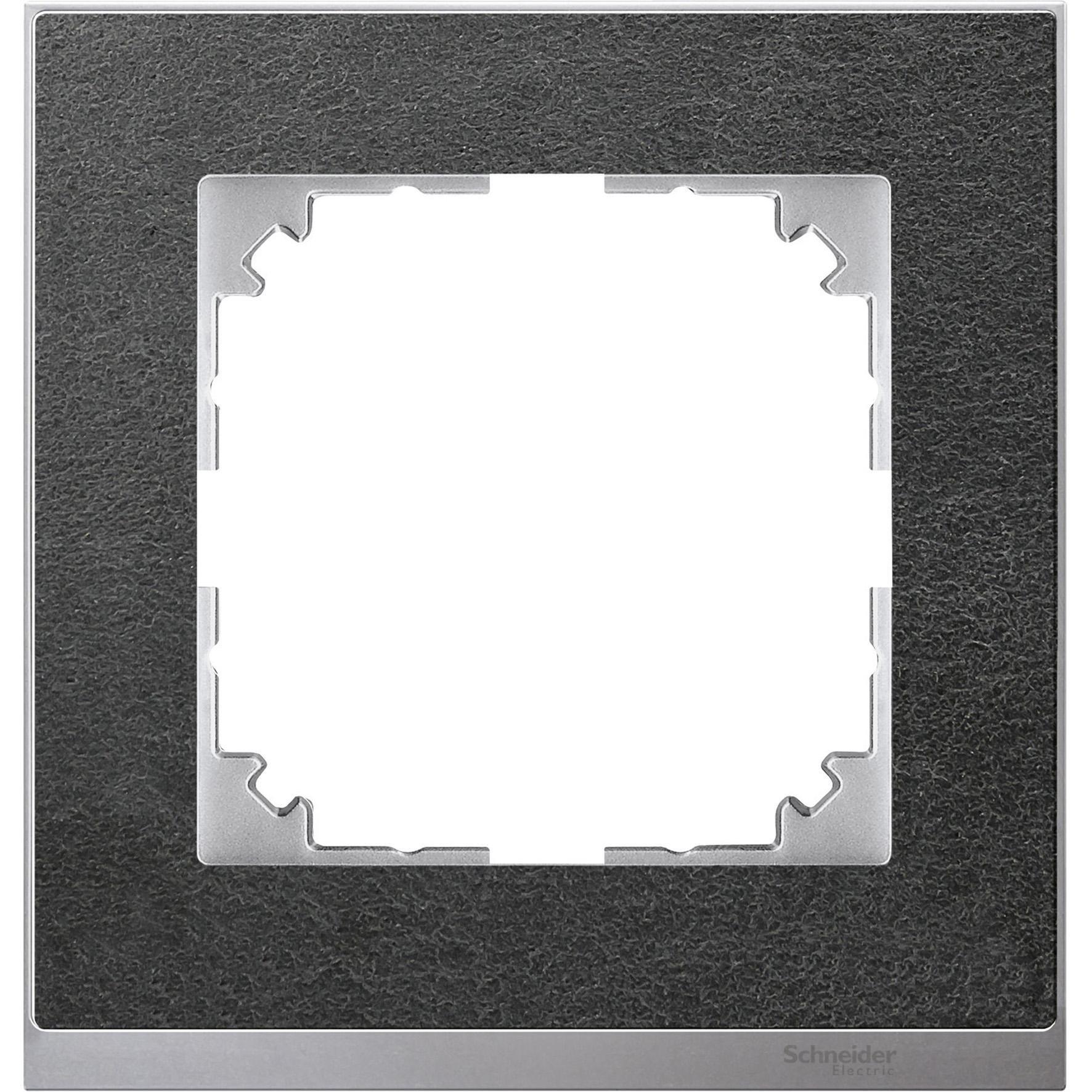 Schneider-Merten M-Pure Décor 1-voudig afdekraam - steen/aluminium (MTN4010-3669)