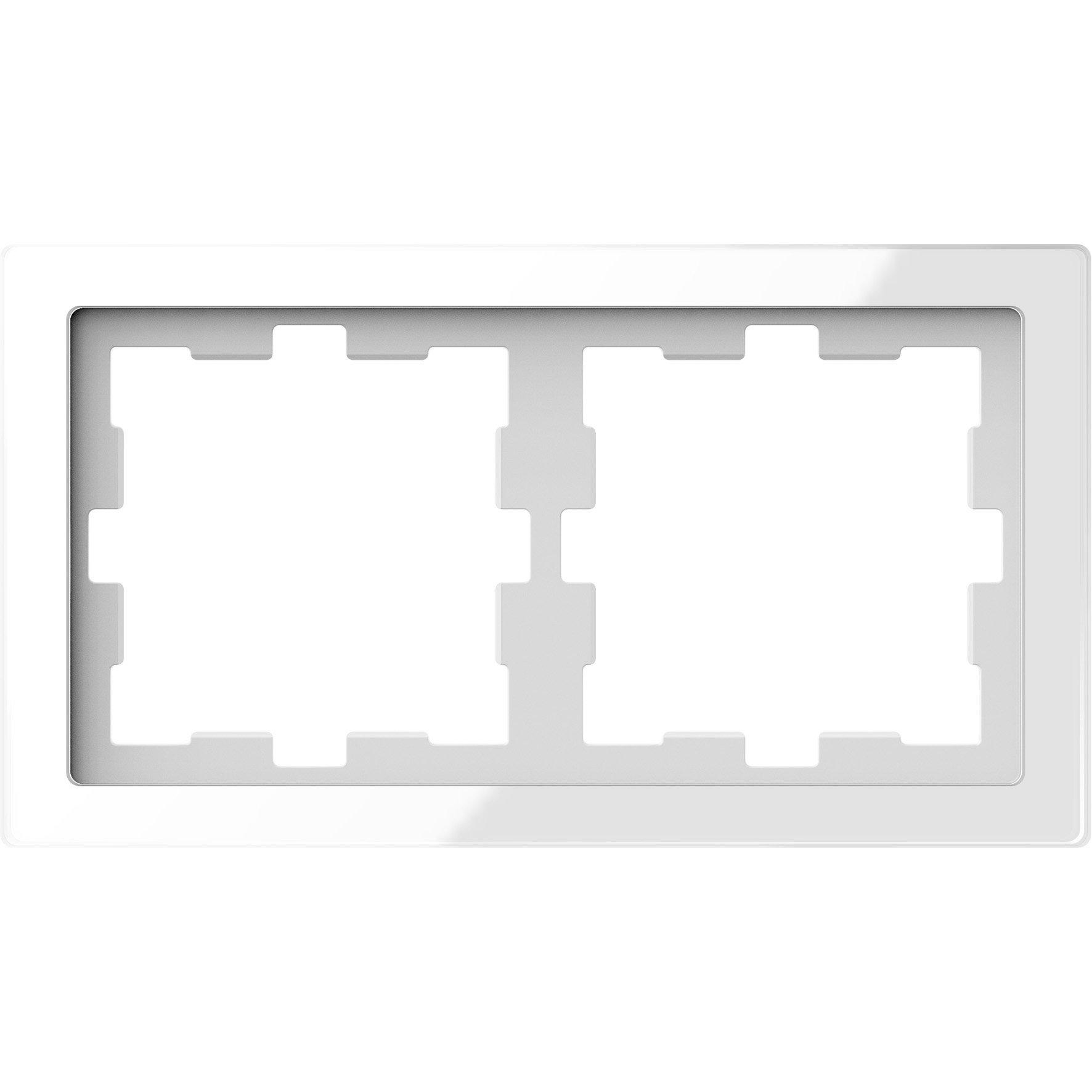 Schneider Electric Merten D Life afdekraam 2-voudig - glas wit (MTN4020-6520)