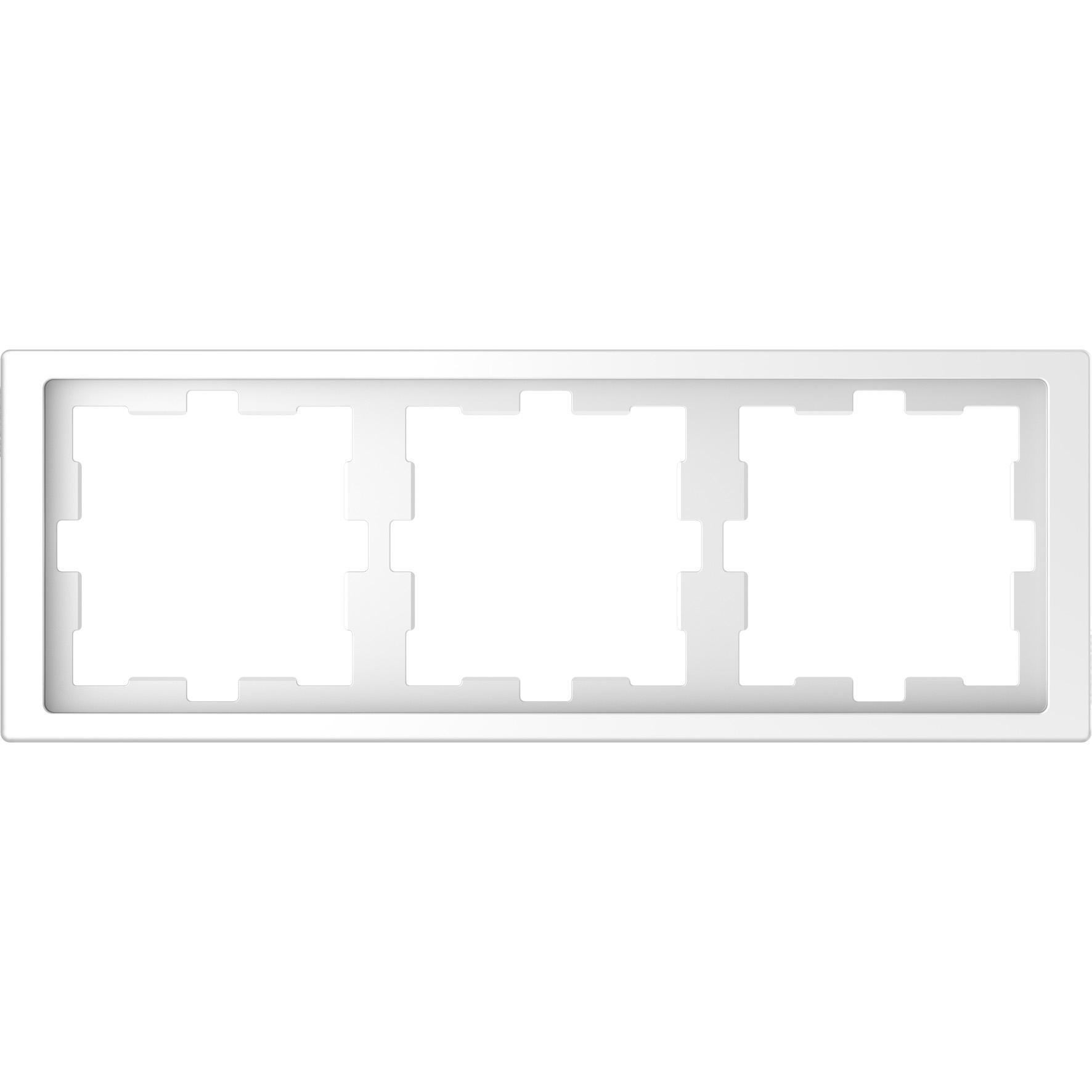 Schneider-Merten D Life afdekraam 3-voudig - lotuswit (MTN4030-6535)
