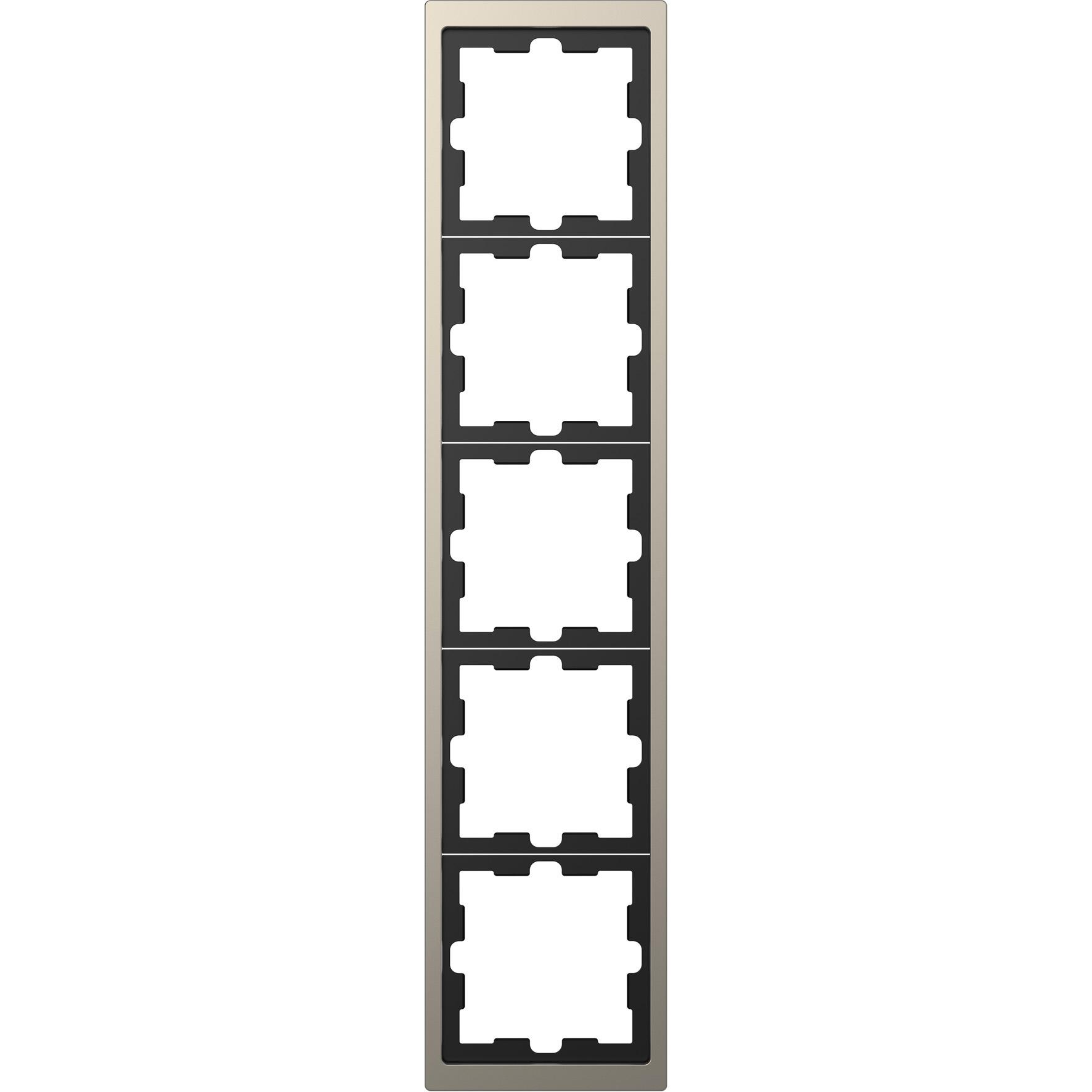 Schneider-Merten D Life afdekraam 5-voudig - nikkel metallic (MTN4050-6550)