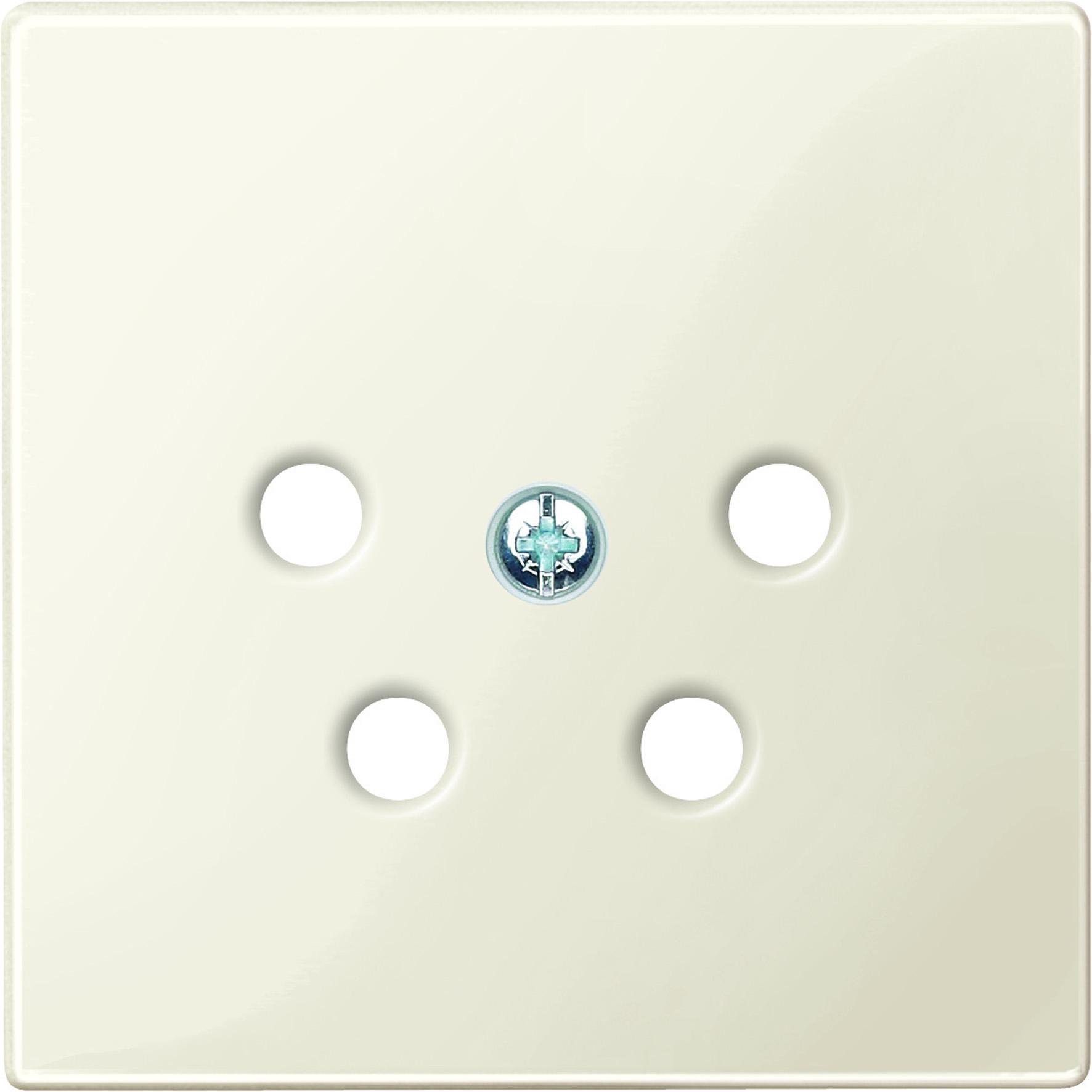 Schneider-Merten systeem M centraalplaat voor PTT aansluitdozen - wit glanzend (MTN4220-0344)