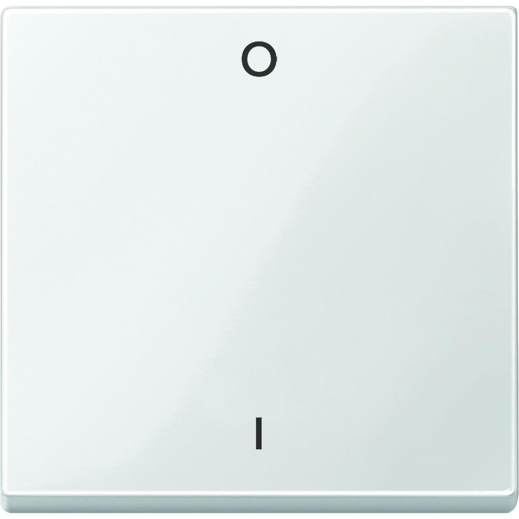 Schneider-Merten systeem M wip met aanduiding 0/1 - polarwit glanzend (MTN432219)