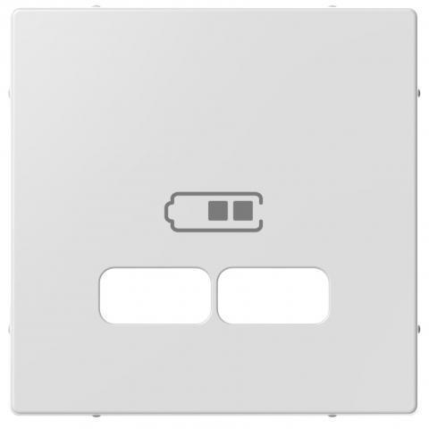 Schneider-Merten systeem M centraalplaat voor USB - actief wit (MTN4367-0325)