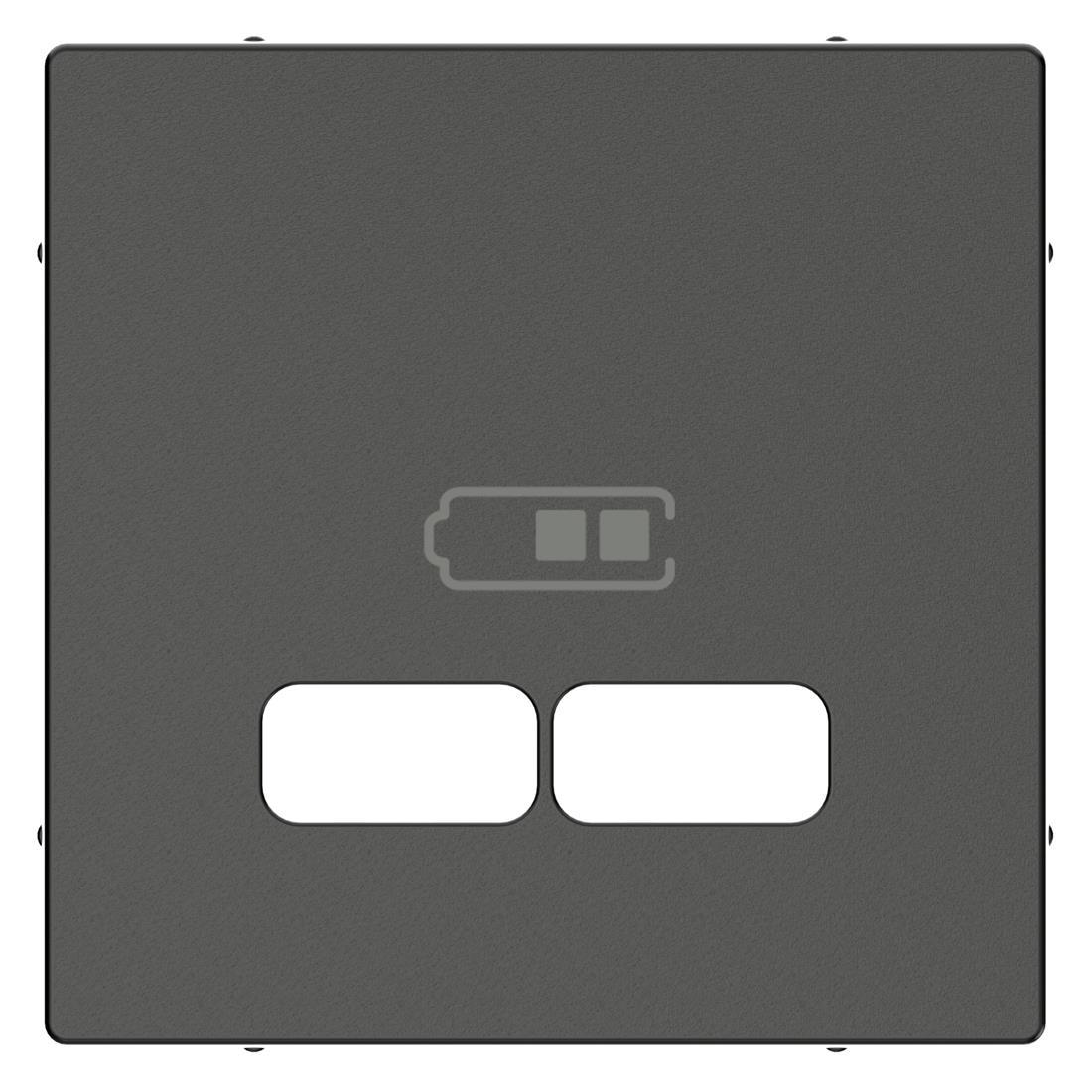 Schneider-Merten systeem M centraalplaat voor USB - antraciet (MTN4367-0414)