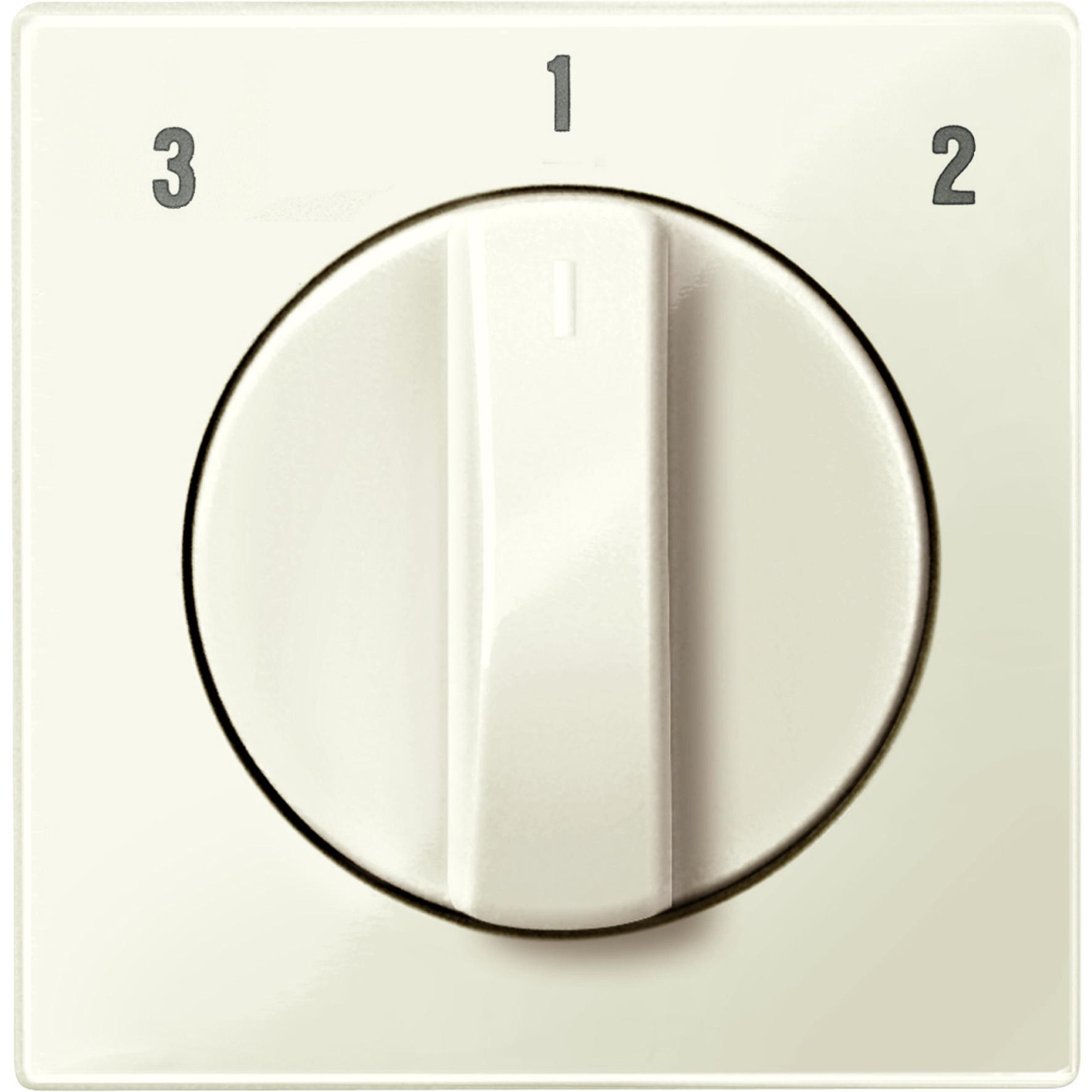 Schneider-Merten systeem M centraalplaat voor ventilatorschakelaar - wit glanzend (MTN567344)