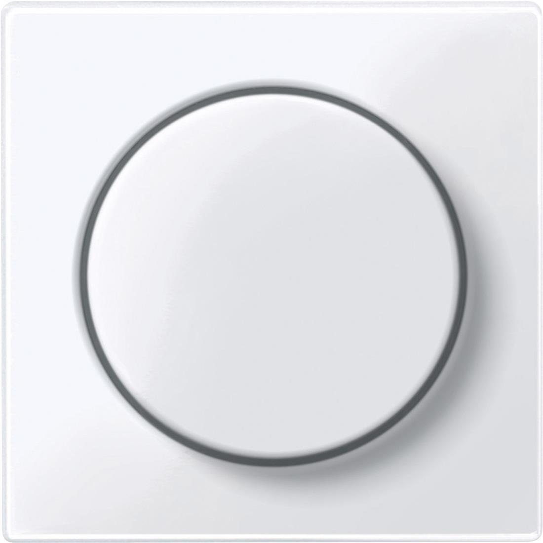 Schneider-Merten systeem M centraalplaat met draaiknop - actief wit glanzend (MTN5250-0325)