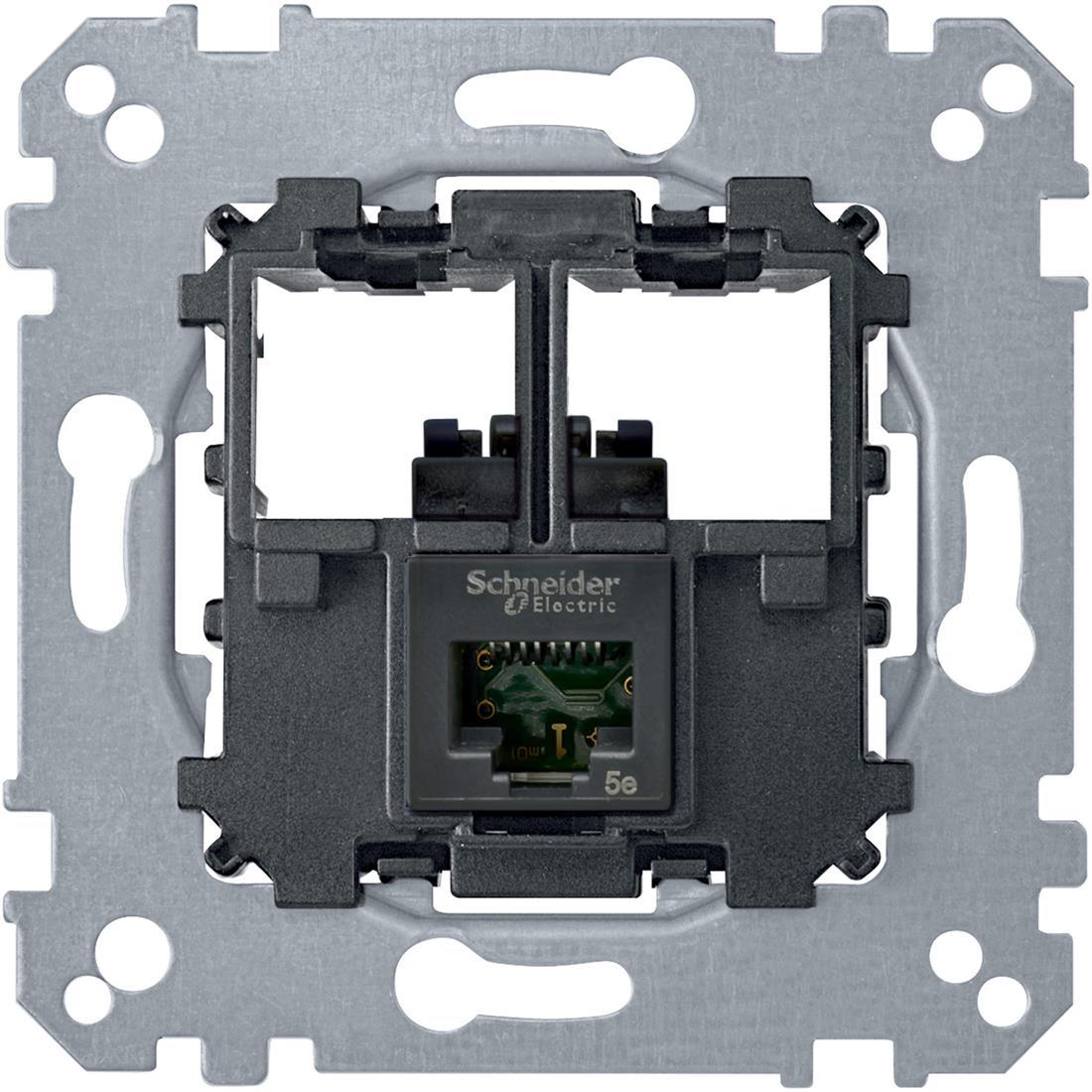 Schneider-Merten draagplaat 1-voudig voor UTP RJ45 cat 5E (MTN4575-0001)