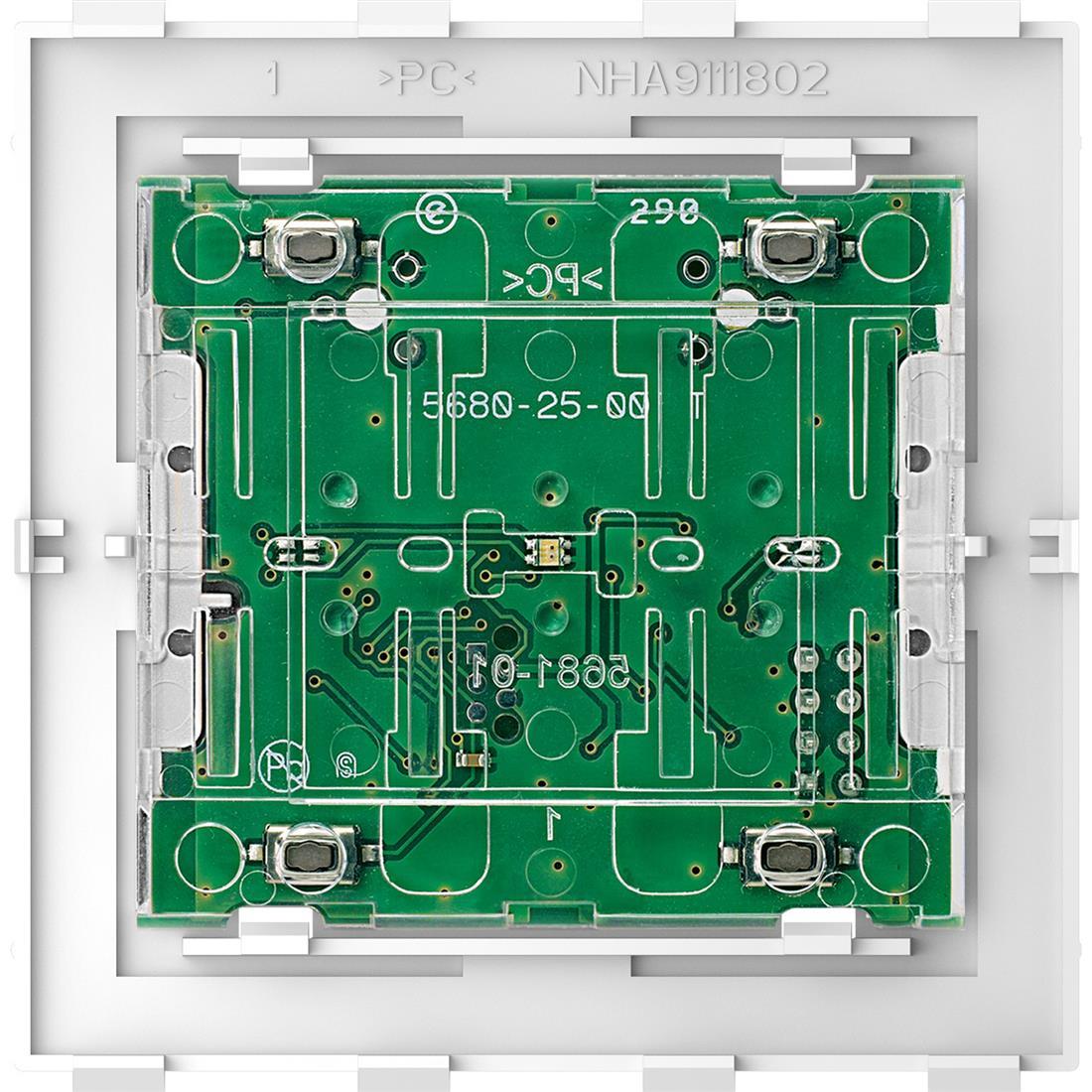Schneider-Merten SysD 2-voudig comfort impuls/druk module (MTN5121-6000)