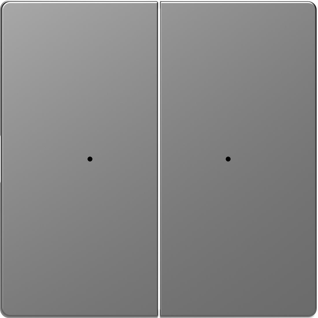 Schneider-Merten D Life seriewip impuls module 2-voudig - RVS look (MTN5220-6036)