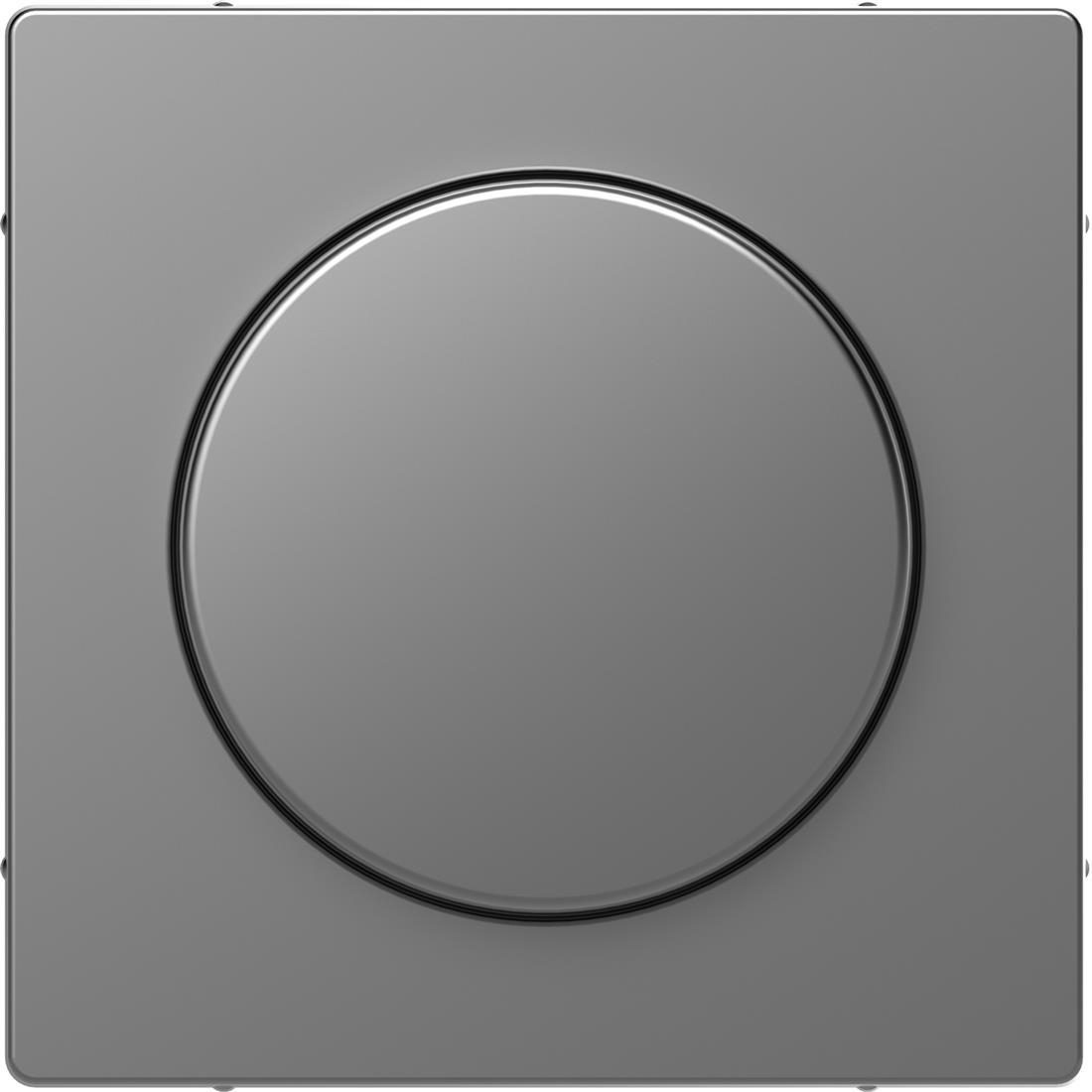 Schneider-Merten D Life centraalplaat met draaiknop - RVS look (MTN5250-6036)